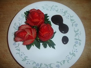 /strawberry flower carving